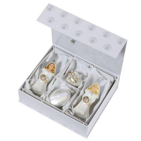 Inge Glas Wedding Day Ladies Gay Marriage German Glass Ornament Gift Set of 4 (Alle Ray-ban-gläser Glas)