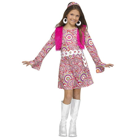 Pink Shaggy Chic Girl Costume