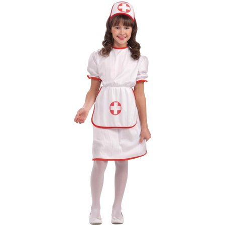 Child Girls Nurse Medical Masquerade Costume - Mens Masquerade Ball Costumes