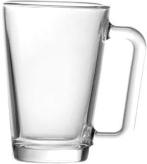 Madison 9 Ounce Glass Coffee Mugs | Thick and Durable ...