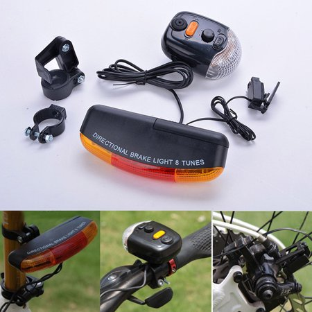 - Tuscom LED Bicycle Bike Turn Signal Directional Brake Light Lamp 8 Sound Horn