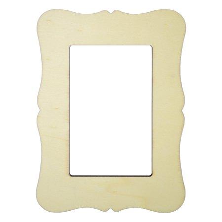 "Unfinished Wood Frame - 3""x5"" - Scrolled Edge - Walmart.com"