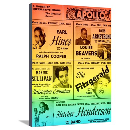 Rainbow Take on an Old Apollo Theater Performance Calendar Stretched Canvas Print Wall