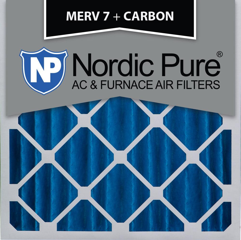 Nordic 20x20x4 MERV 7 Plus Carbon AC Furnace Air Filters ...