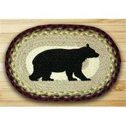Earth Rugs 81-395CB Printed Oval Swatch - Cabin Bear