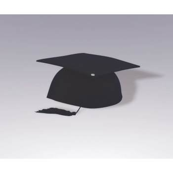 GRADUATION CAP-BLACK