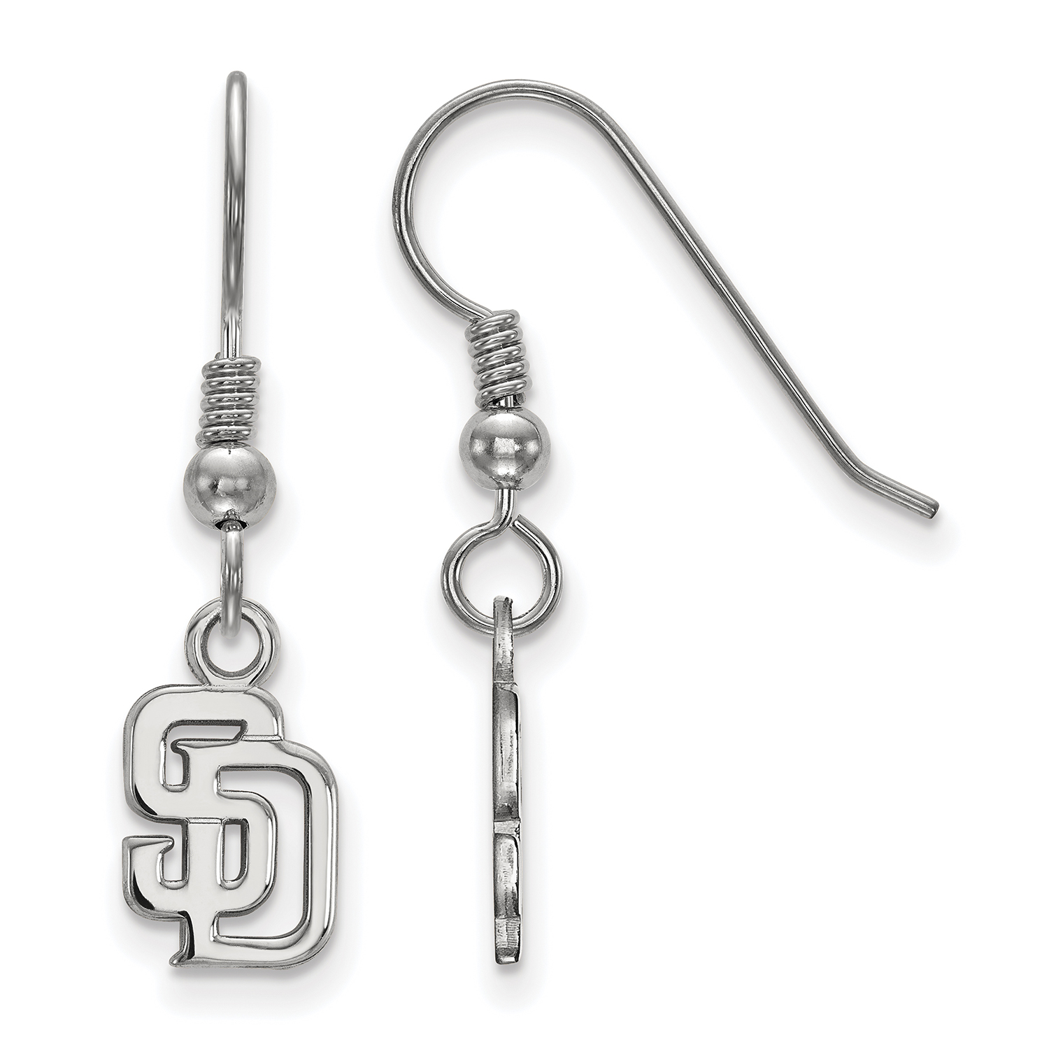 San Diego Padres Women's Sterling Silver Extra-Small Dangle Earrings - No Size