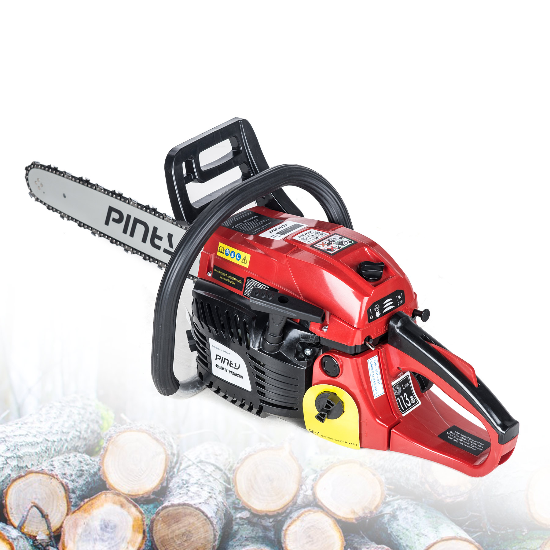 "18"" 56.5 cc Gas Chainsaw Heavy Duty EPA Approved"