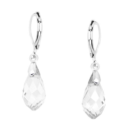 Pear Shaped Glass (Falari Glass Crystal Pear Shaped Earring Clear)