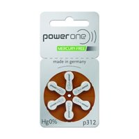10 Packs (60 Batteries) German Power One Size 312 Hearing Aid Batteries! 60 Batteries