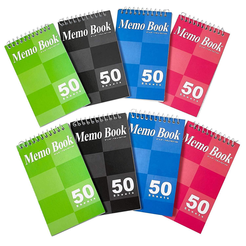 5 X MINI NOTE BOOK SPIRAL BOUND WRITING NOTEPAD SMALL RADOM PAD X3P0