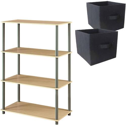 mainstays no tools 6 cube storage shelf colors
