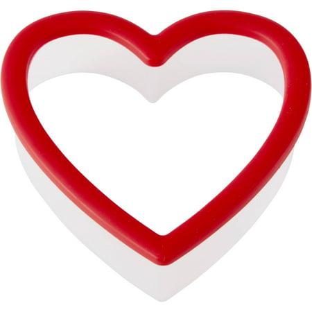 (4 Pack) Wilton Heart Grippy Plastic Cookie Cutter ()