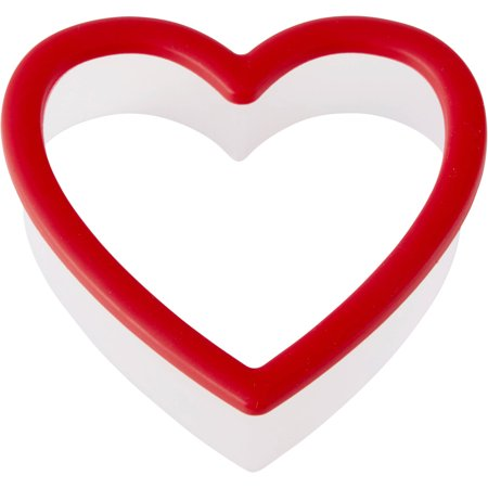 (4 Pack) Wilton Heart Grippy Plastic Cookie Cutter (Giant Heart Cookie)
