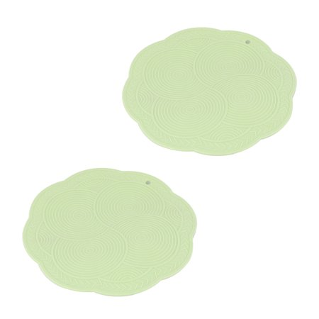 Kitchenware Rubber Water Heat Insulation Resistant Pad Mat Light Green -