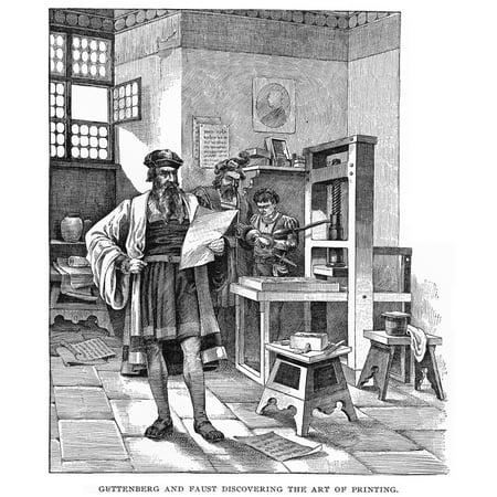 Johann Gutenberg NC1395 1468 German Inventor And His Partner Fust