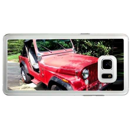 Jeep Cj7 Wrangler Classic Car Off Road Samsung Galaxy Note 7 Tablet Phone Case