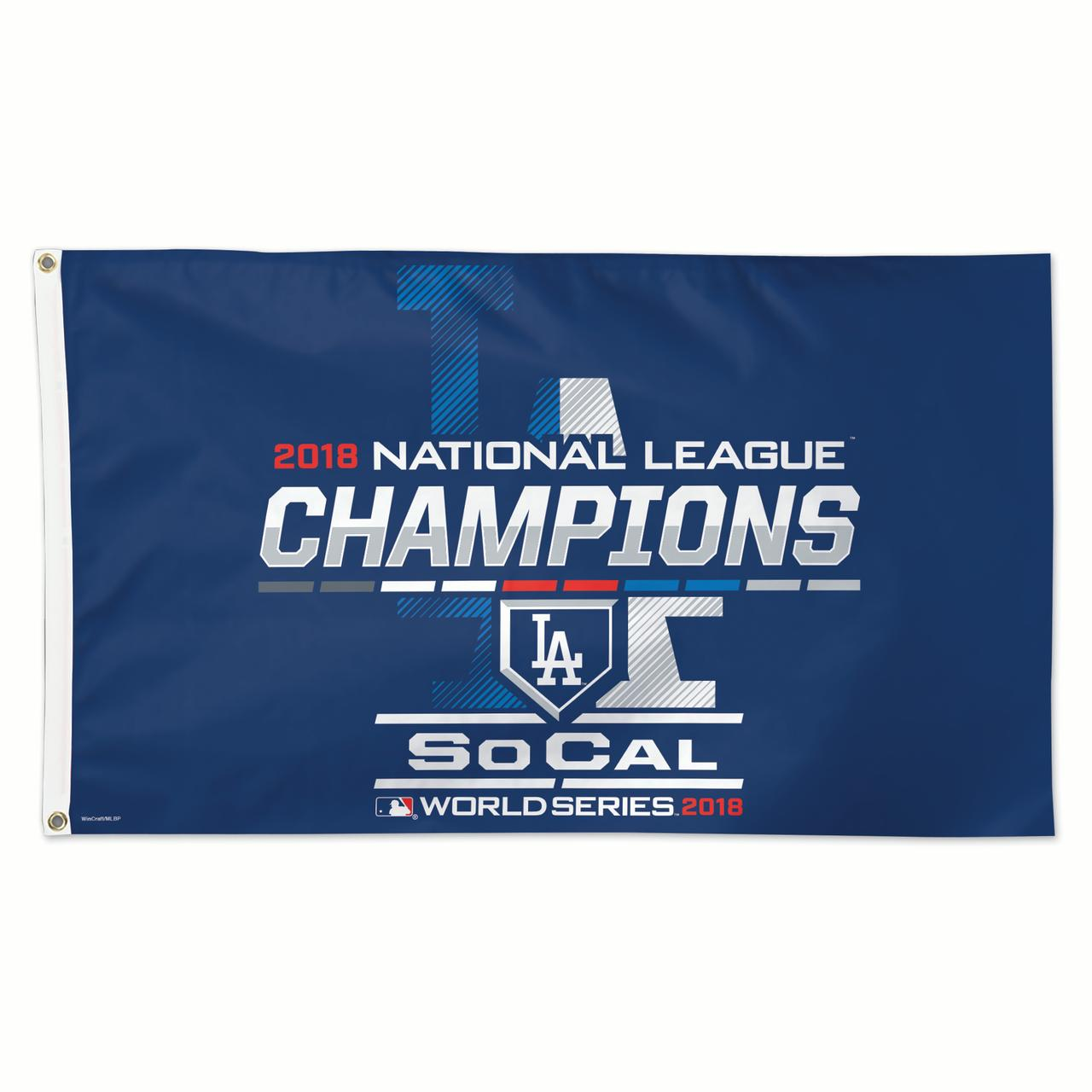 Los Angeles Dodgers WinCraft 2018 National League Champions On-Field Celebration 1-Sided 3' x 5' Deluxe Flag - No Size