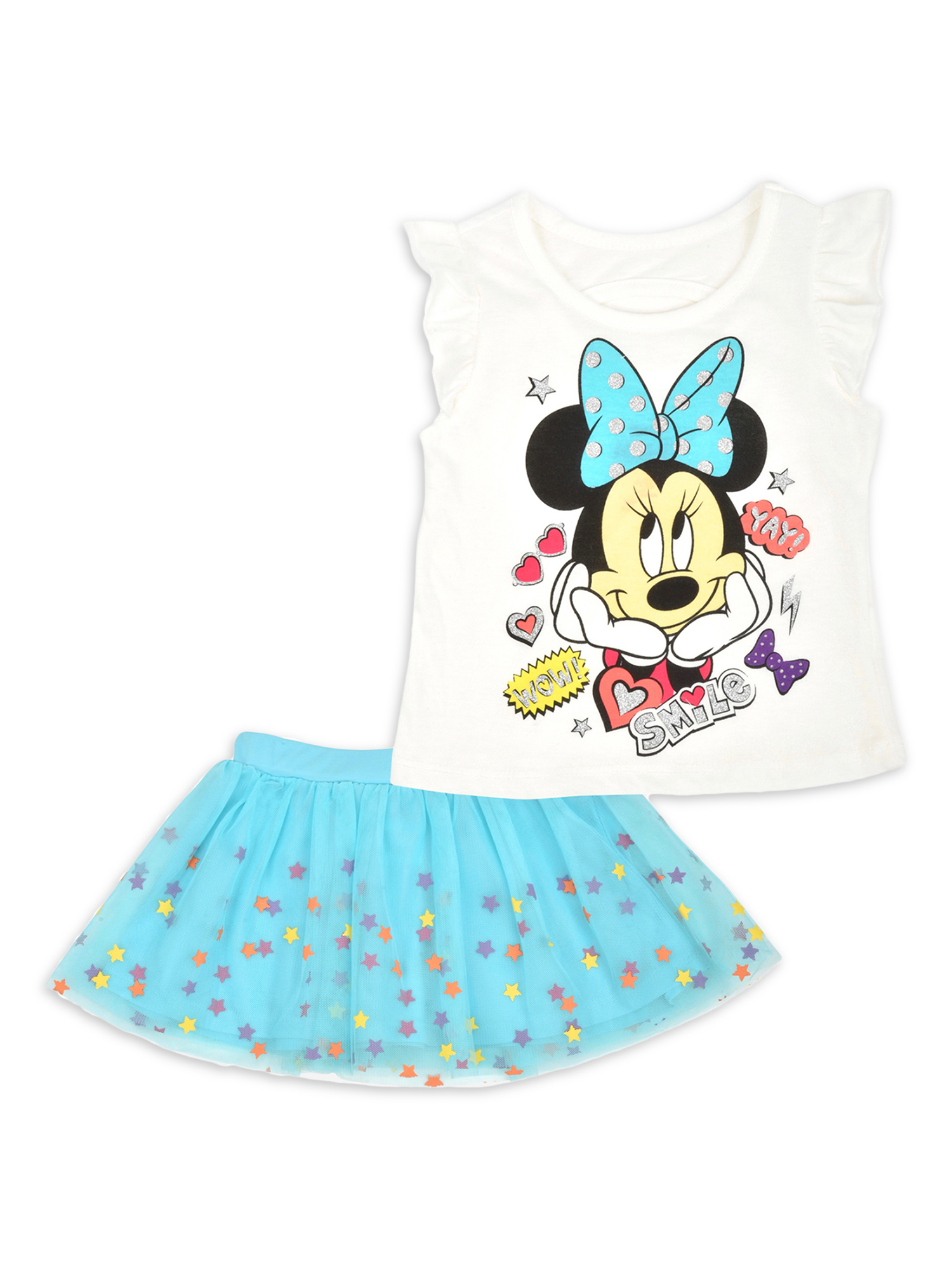 NEW Disney Minnie Mouse Clubhouse Tutu /& Bows Girls Nightshirt Gown Sz 7//8 9//10