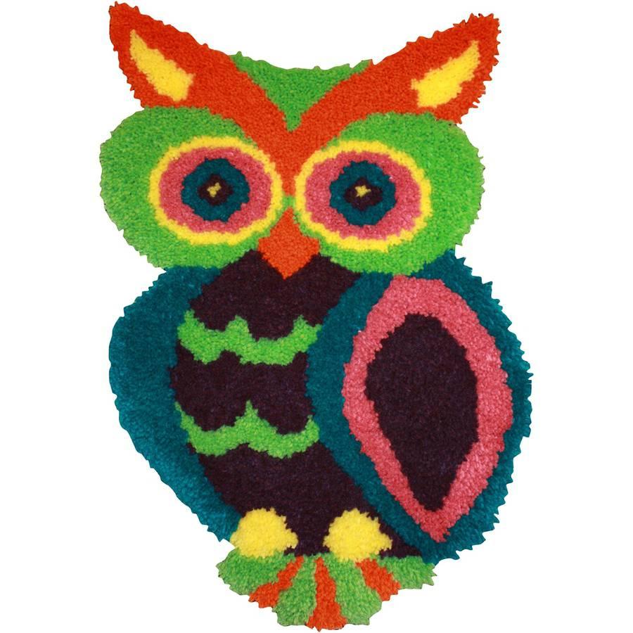 "Shaped Latch Hook Kit, 18.5"" x 27"", Owl"
