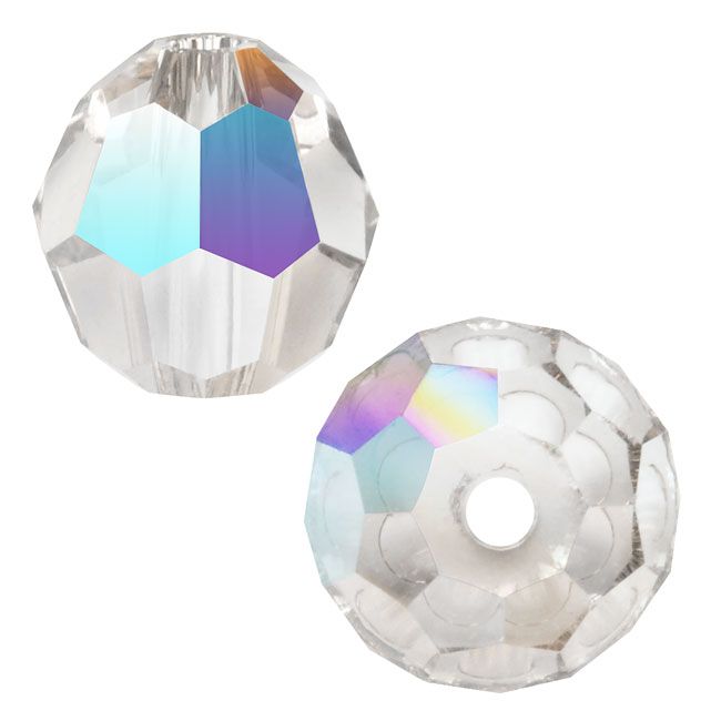 Swarovski Crystal, #5000 Round Beads 8mm, 8 Pieces, Crystal AB