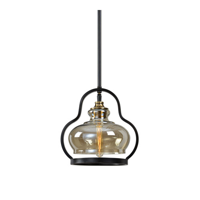 Mini Pendants 1 Light With Aged Black Metal 65% Glass 35% Matw Williams 12 inch 100 Watts