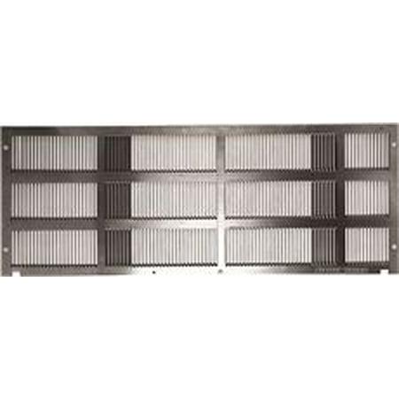 Aluminum Exterior Grille - Ge Zoneline Stamped Aluminum Exterior Rear Grille