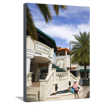 Cocowalk Shopping Mall in Coconut Grove, Miami, Florida, United States of America, North America Stretched Canvas Print Wall Art By Richard (Florida Mall Florida)