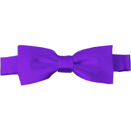 Solid Plum Violet Kid's Pre-Tied Bow (Violet Plum)