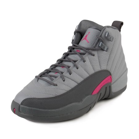 Nike Jordan Girl - Nike Girls Air Jordan 12 Retro GG Wolf Grey/Vivid Pink 510815-029