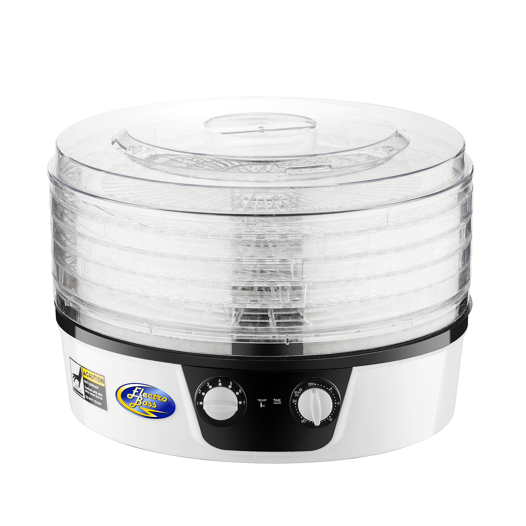 Electro Boss Baja Pro Food Dehydrator with 24 Hour Timer   5 Trays