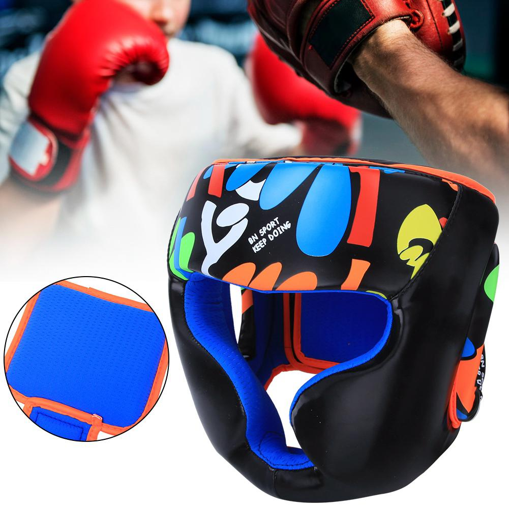 Boxing Training Head Face Protective Gear Helmet Headgear Guard Universal