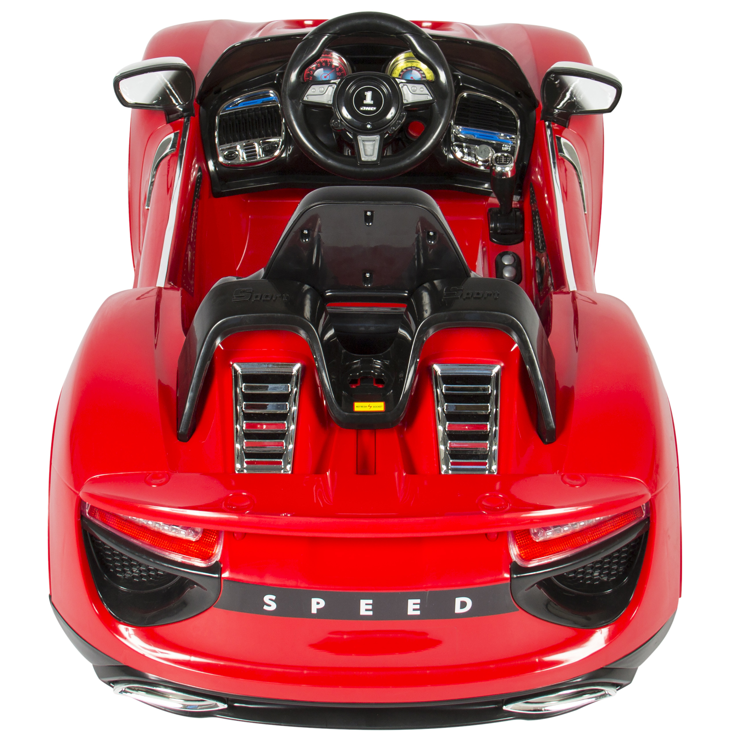 Best Choice Products 12V Kids Battery Powered Remote Control Electric RC  Ride On Car W/ MP3 And AUX   Red   Walmart.com