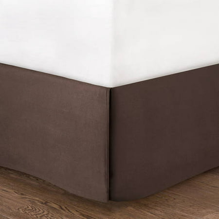 Mainstays Bed Skirt Collection, Dark Brown, Twin