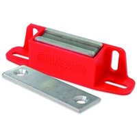 Master Magnetics 07502 Latch Magnet With Strike Plate, 4-1/4 in L X 15/16 in W X 1-1/8 in H, 50 lb