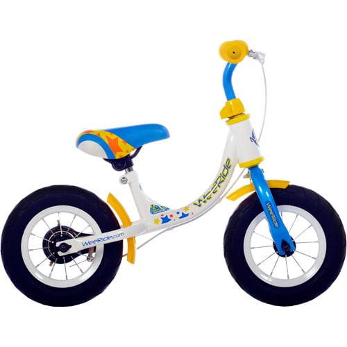 "10"" WeeRide, Balance Bike, White/Blue"