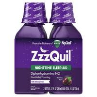 ZzzQuil Nighttime Sleep Aid Liquid by Vicks, Warming Berry Flavor, 12 Fl Oz, 2 ct