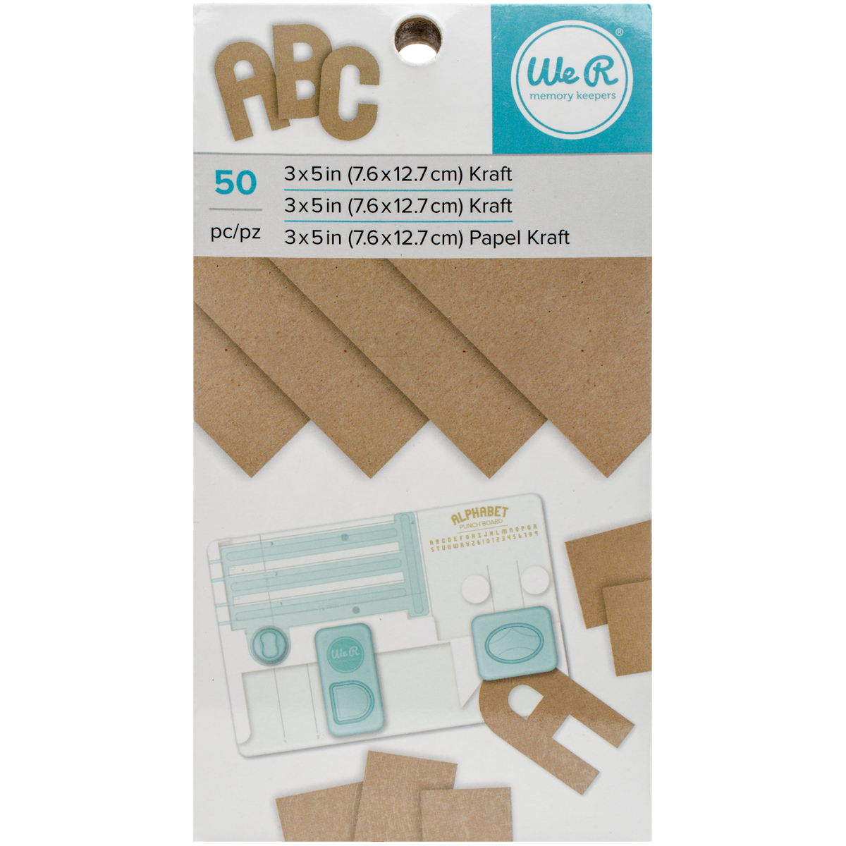 "We R Memory Keepers Paper Pad, 3"" x 5"", Kraft, 50 Sheets"