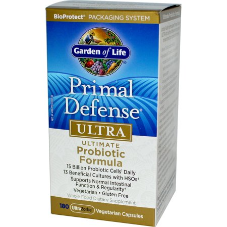 Garden of Life  Primal Defense  Ultra  Ultimate Probiotic Formula  180 UltraZorbe Vegetarian Capsules