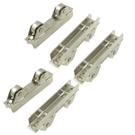Unique Bargains Metal Dual Axles Window Sash Pulley Door Sliding Roller 5 Pcs
