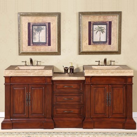 Silkroad Exclusive Stanton 83 39 39 Double Bathroom Vanity Set