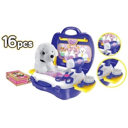 World Tech Toys Pet Grooming 16 Piece Suitcase Playset - Overstock Toys