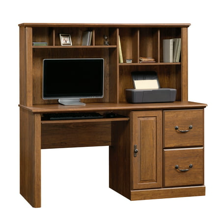 Sauder Orchard Hills Computer Desk with Hutch, Milled Cherry Finish