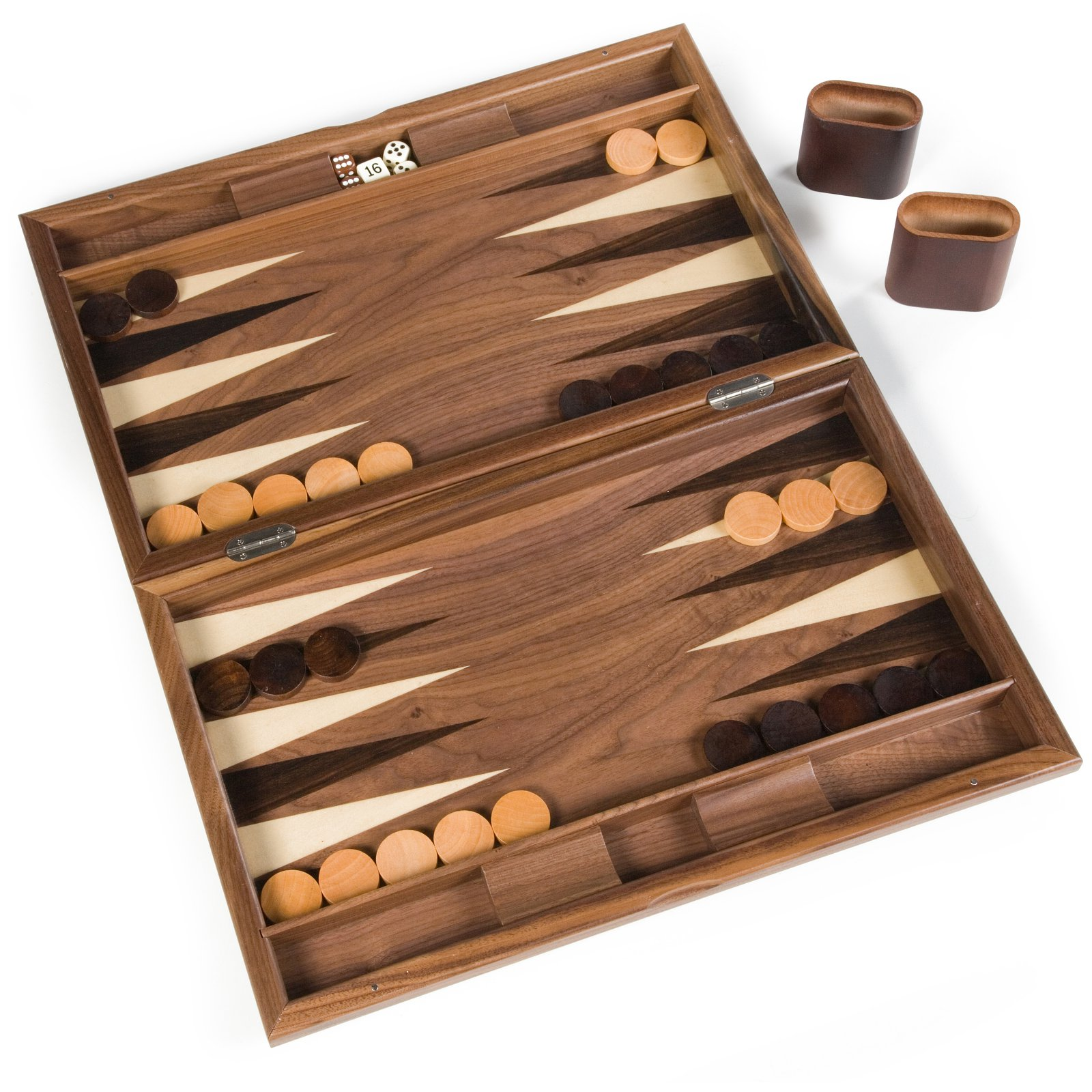 19-Inch Starburst Backgammon Set by Wood Expressions