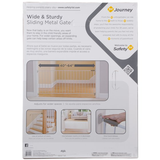 Safety 1st Wide & Sturdy Hardware Mounted 64 In  Sliding