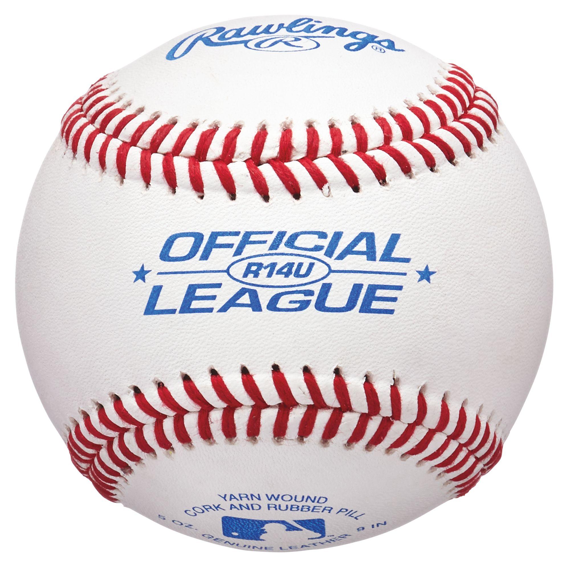ROLB1 Box of 12 Official Junior League Competition Grade Baseballs Rawlings Raised Seam Baseballs Cover