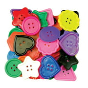 Roylco® Really Big Buttons?, 8 Shapes, 1 lb.