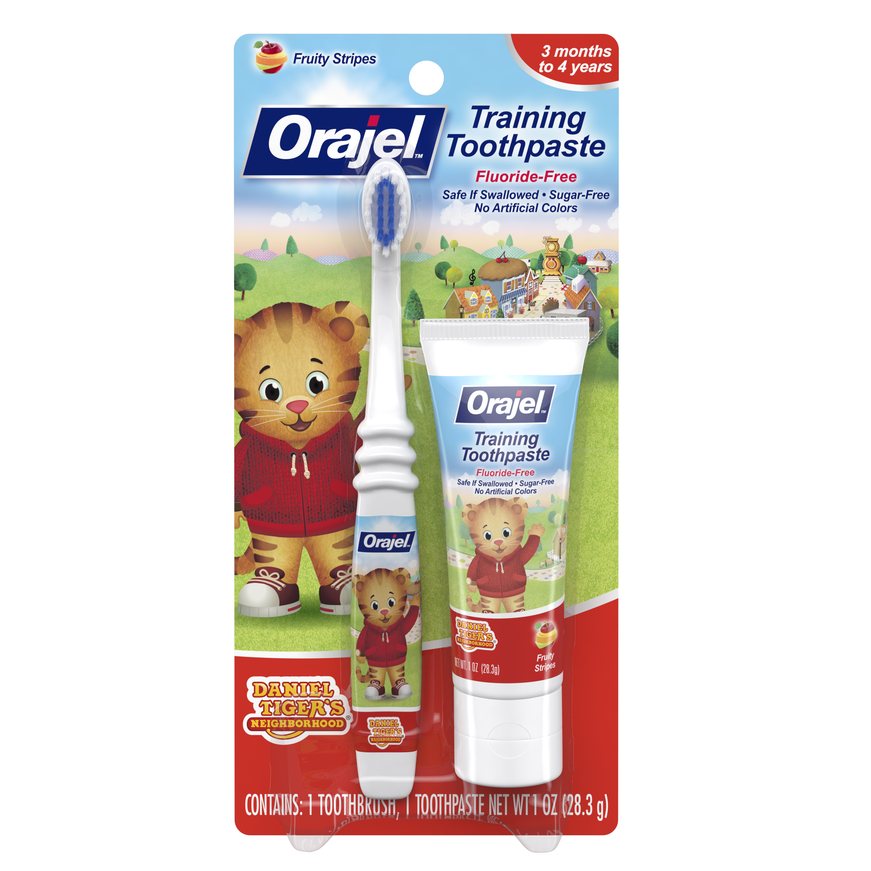 Orajel Daniel Tiger's Training Toothpaste Fruity Stripes 1.0 oz Each