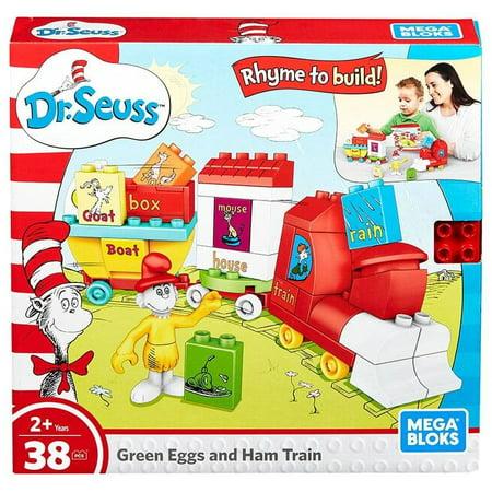 Dr. Seuss Green Eggs & Ham Train Set Mega Bloks FNJ72