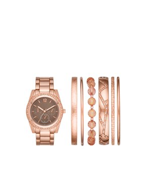 8613c5c7b18 Product Image Ladies  Rose Gold Watch and Stackable Bracelet Gift Set
